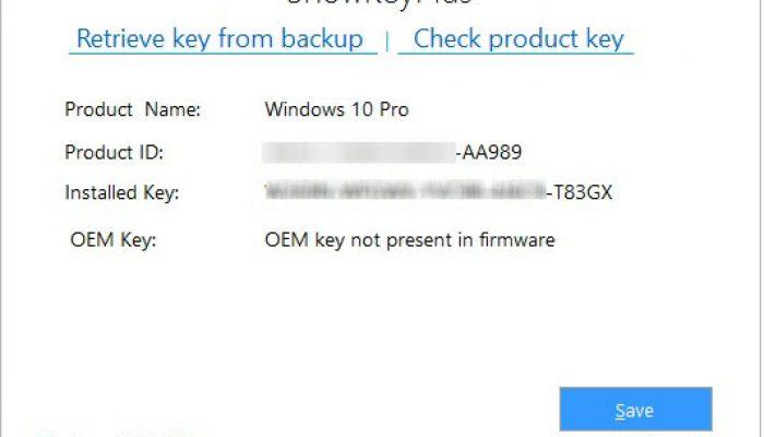 Averigua la clave de windows 10